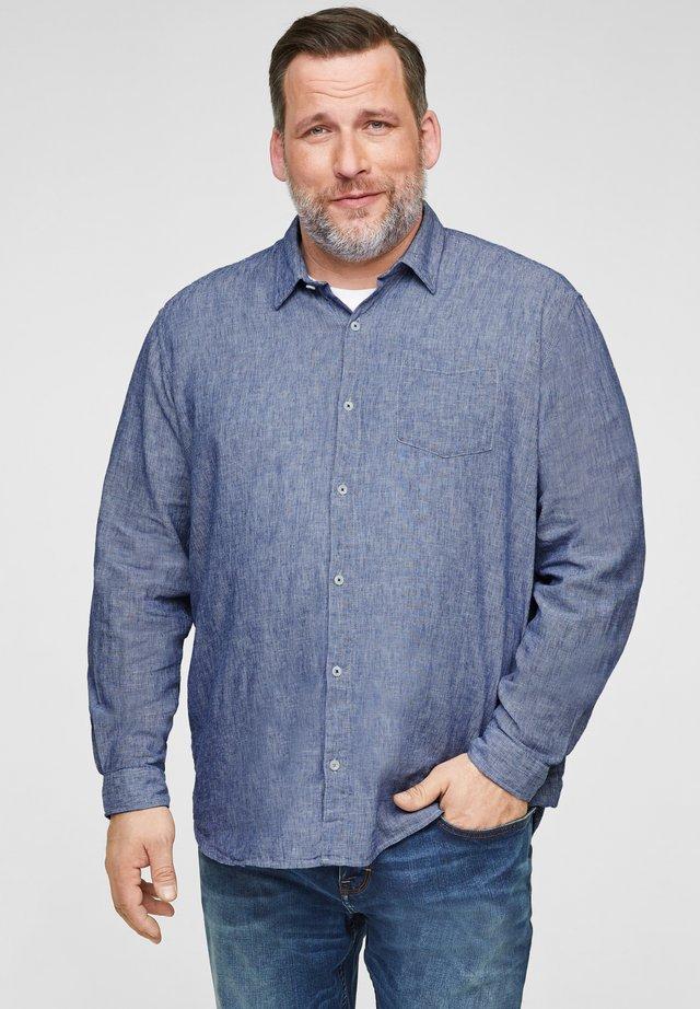 Shirt - blue dobby