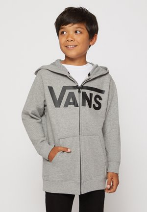 BY VANS CLASSIC ZIP HOODIE II BOYS - Sweater met rits - cement heather/black