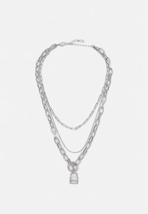 PADLOCK MUTLIROW - Halsband - silver-coloured