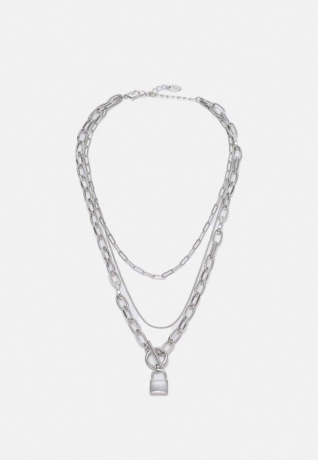 PADLOCK MUTLIROW - Collier - silver-coloured