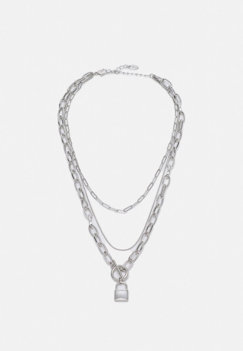 LIARS & LOVERS - PADLOCK MUTLIROW - Necklace - silver-coloured