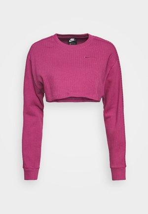 CREW CROP - Sweatshirt - mulberry rose