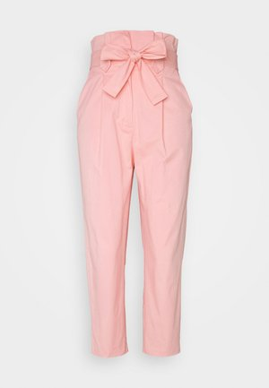 TIE WAIST PEG TROUSER - Trousers - pink
