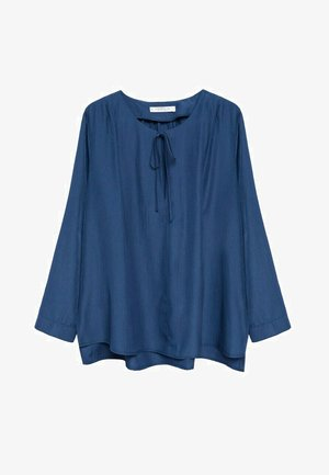 FLIESSENDE  - Long sleeved top - blau