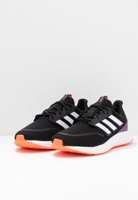 adidas Performance - ENERGYFALCON - Obuwie do biegania treningowe - core black/footwear white/signal coral - 2