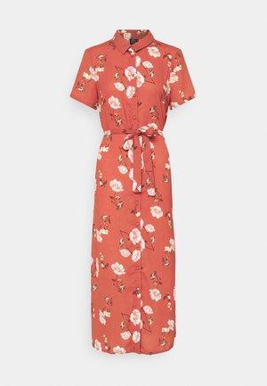 VMMELLIE LONG SHIRT DRESS - Shirt dress - marsala/mellie