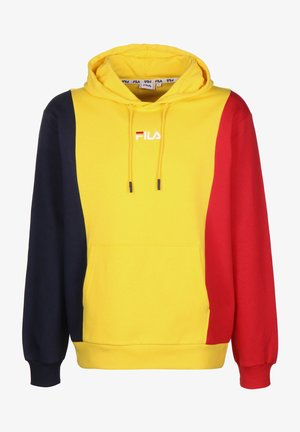 SABURO - Sweat à capuche - dandelion/true red/blk iris