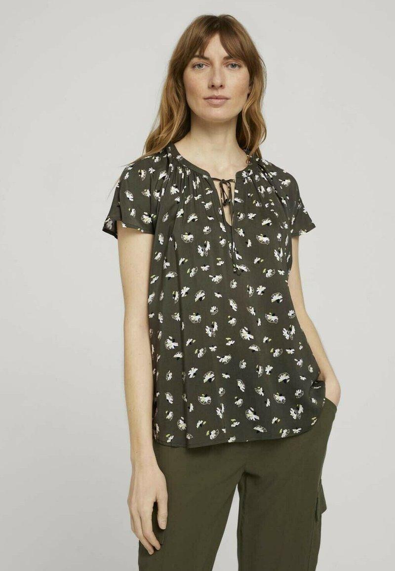TOM TAILOR - Blouse - khaki small floral design