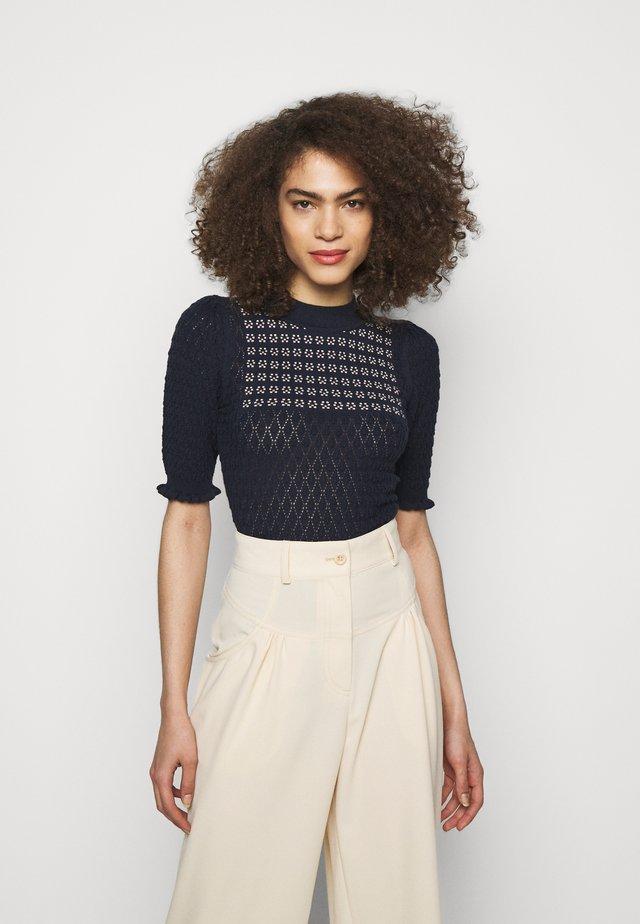 Pullover - blue/white