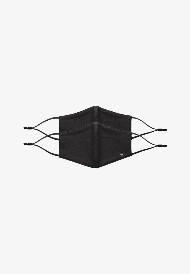 2 PIECE PACK - Stoffen mondkapje - black