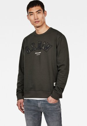 GRAPHIC LOGO - Strickpullover - olive