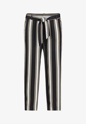 MIT STREIFEN - Trousers - khaki/schwarz