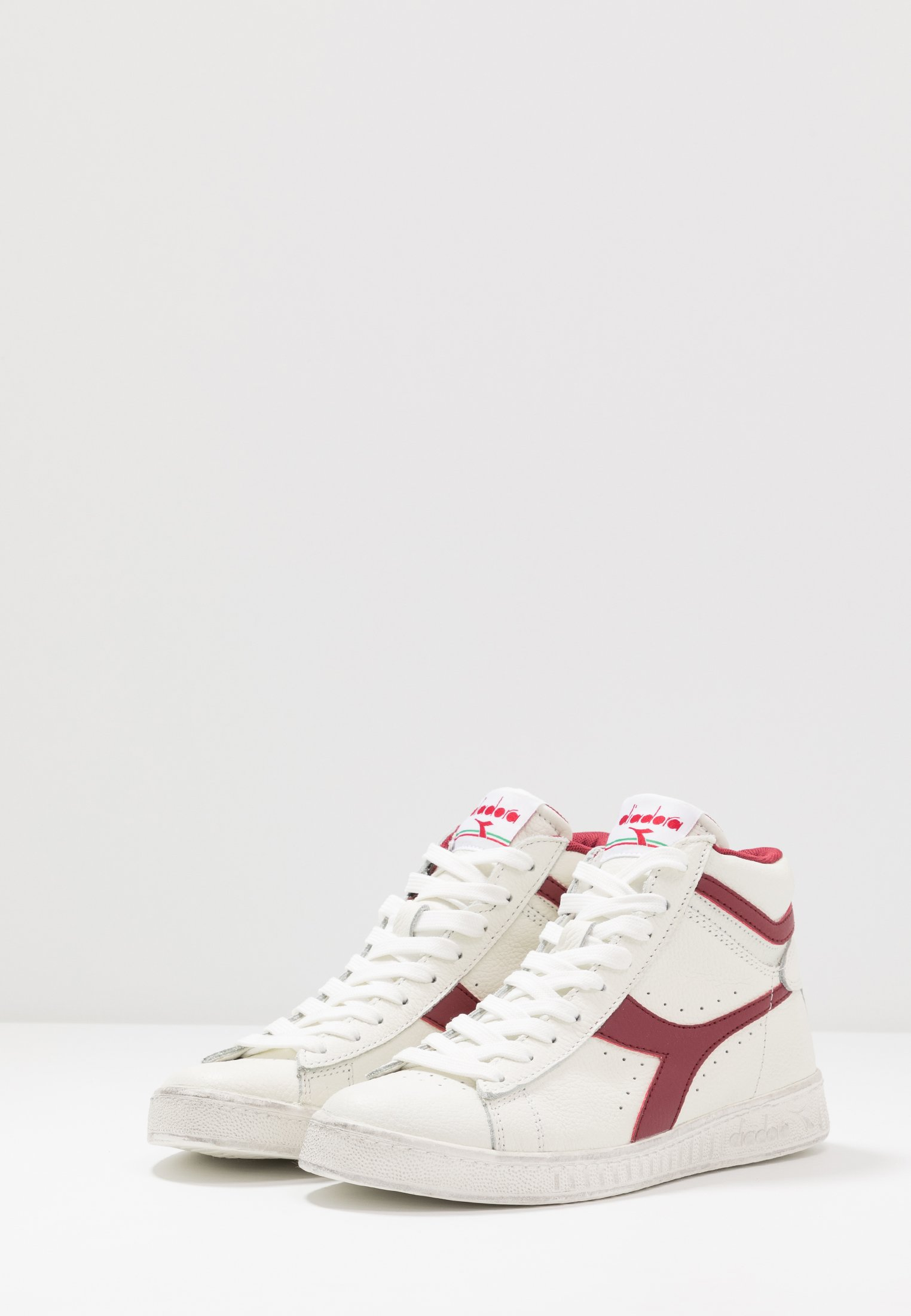 Diadora GAME WAXED - Sneaker high - white/red pepper/weiß - Herrenschuhe z3dll