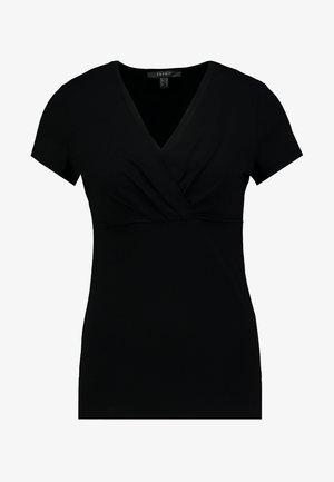 OVERLAP - Print T-shirt - black