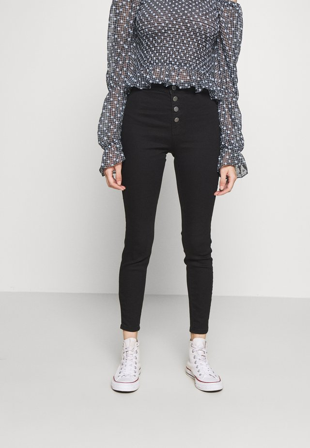 MID RISE JEGGING - Jeansy Skinny Fit - black