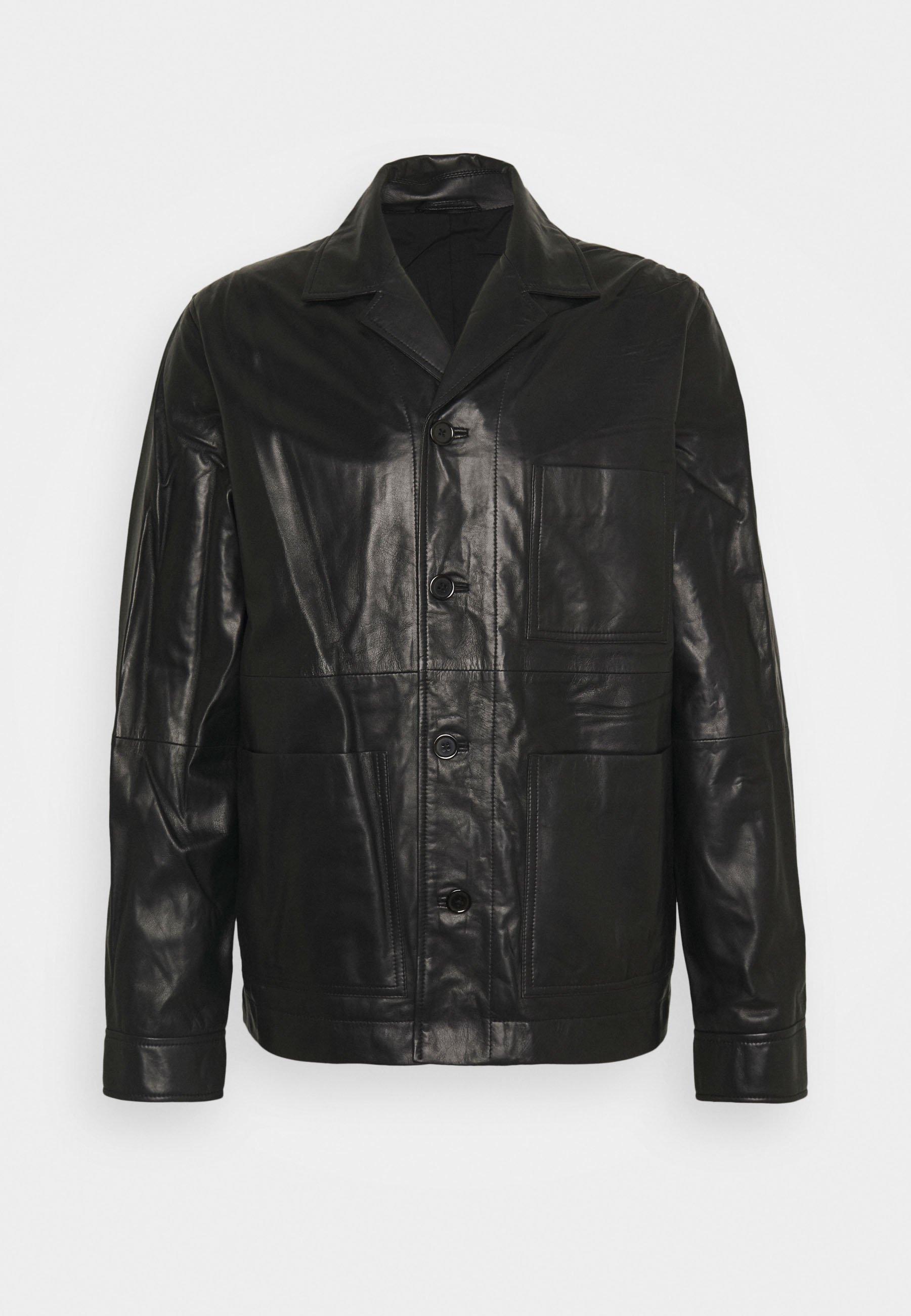 Homme WASSWA JACKET  - Veste en cuir