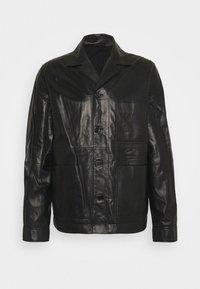 WASSWA JACKET  - Kožená bunda - black