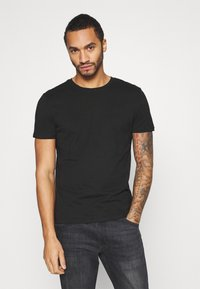 Burton Menswear London - SHORT SLEEVE CREW 7 PACK - T-shirt basic - black - 6