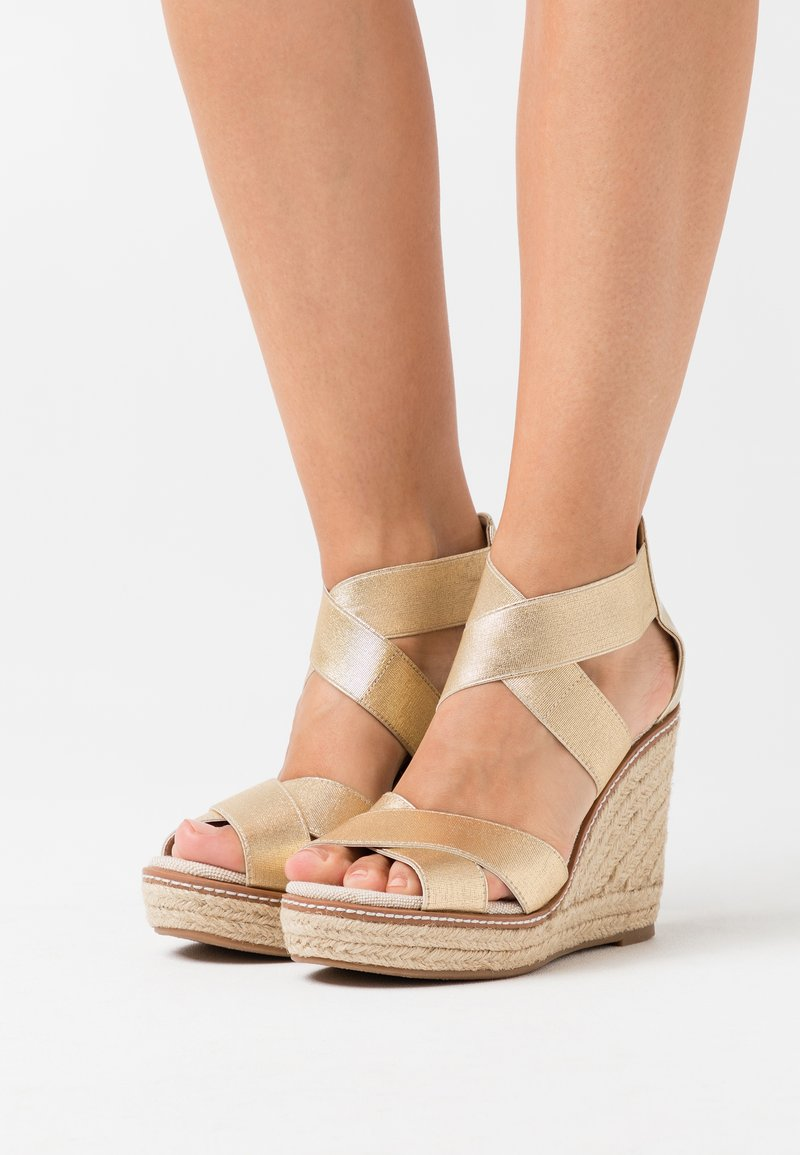 Dorothy Perkins - ECO REEL WEDGE - High heeled sandals - gold