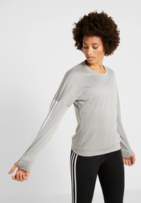 adidas Performance - CLIMALITE RUNNING LONG SLEEVE PULLOVER - Sudadera - grey - 0