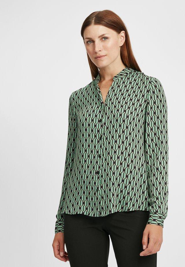 Košile - schwarz/grün