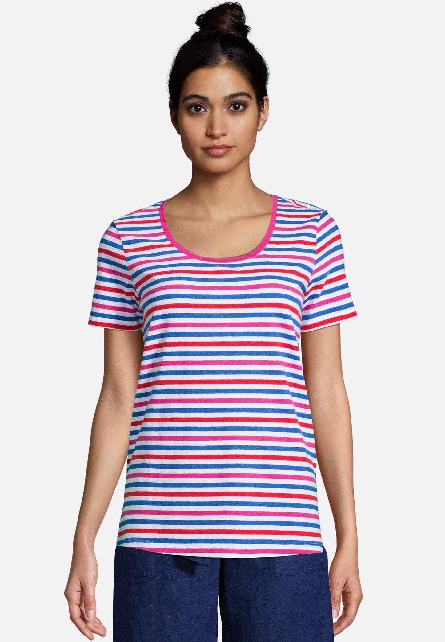 Damen T-Shirt print - vibrant magenta stripe