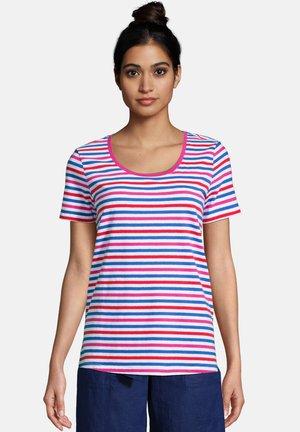 Print T-shirt - vibrant magenta stripe
