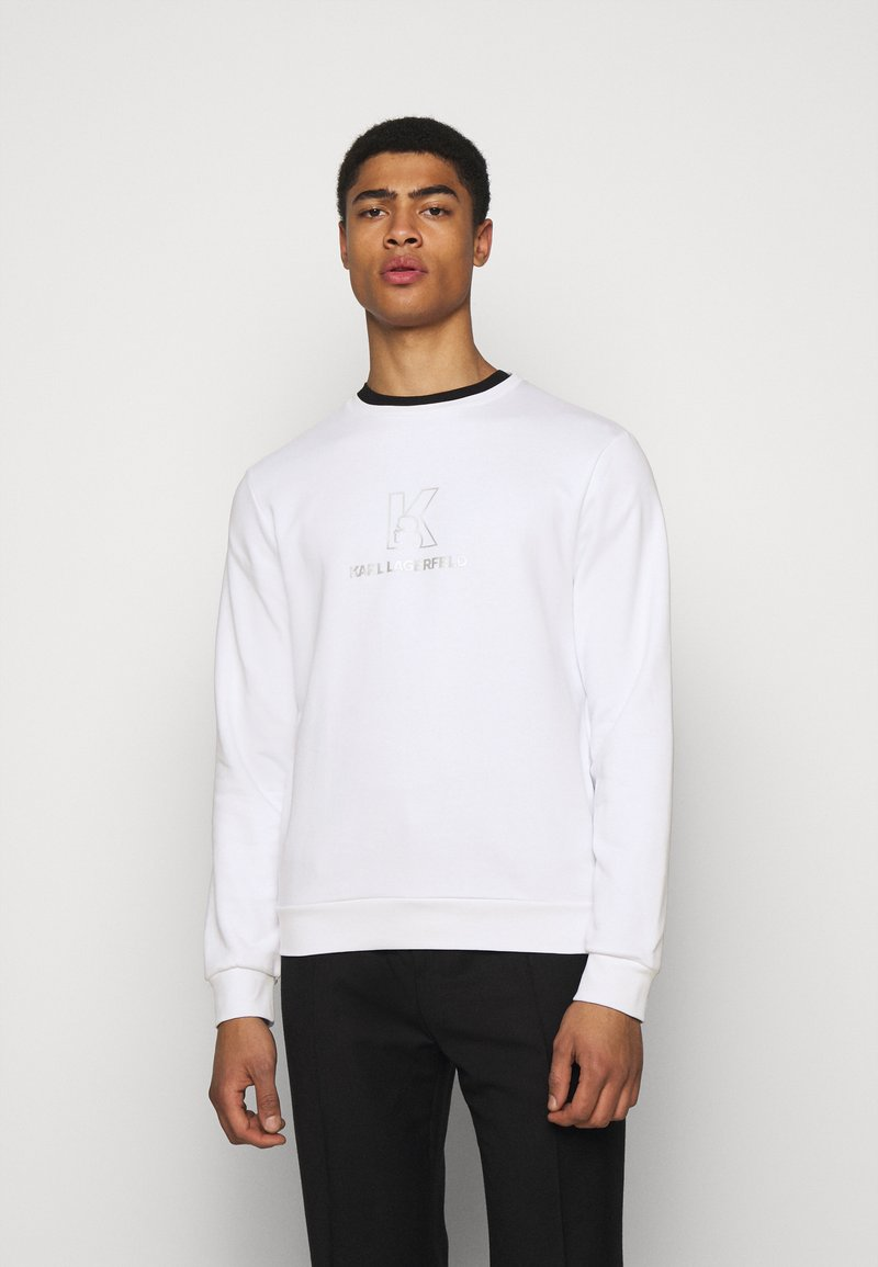 KARL LAGERFELD - CREWNECK - Sweatshirt - white