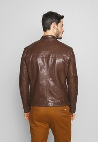 Strellson - BRIXTON - Leather jacket - cognac - 2