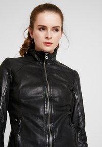 Gipsy - Leather jacket - black - 3