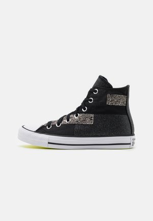 CHUCK TAYLOR ALL STAR GLITTER PATCH - High-top trainers - black/lemon/white