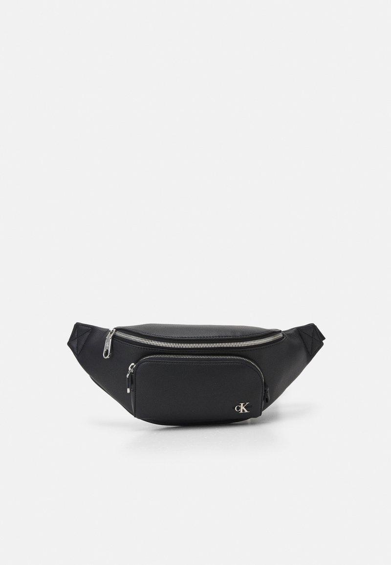 Calvin Klein Jeans - WAISTBAG FRONT POCKET UNISEX - Bum bag - black