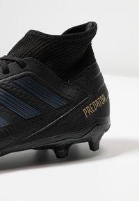 adidas Performance - PREDATOR 19.3 FG - Moulded stud football boots - core black/gold metallic - 5