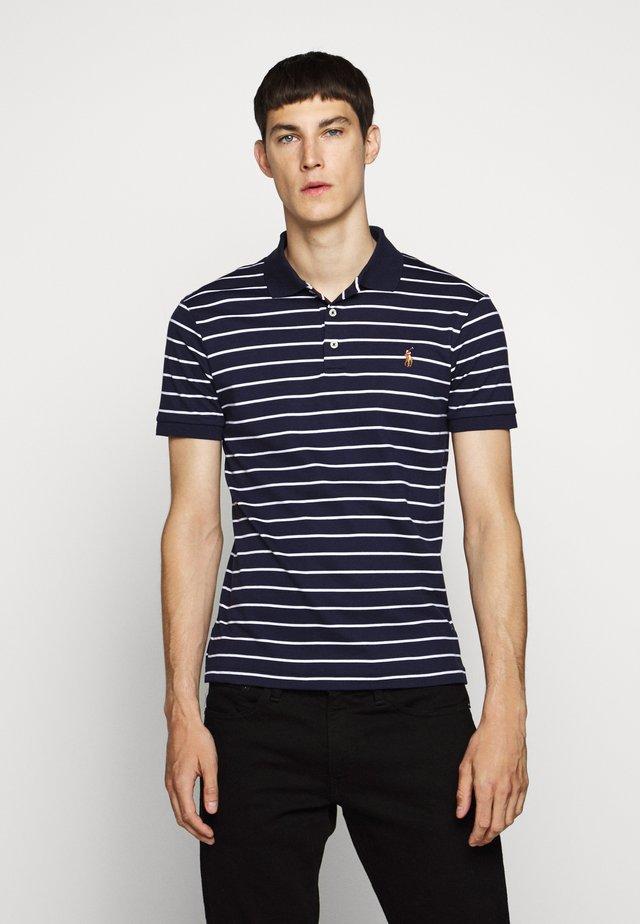 PIMA POLO - Polo shirt - french navy/ white