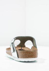 Birkenstock - GIZEH - T-bar sandals - metallic silver - 4