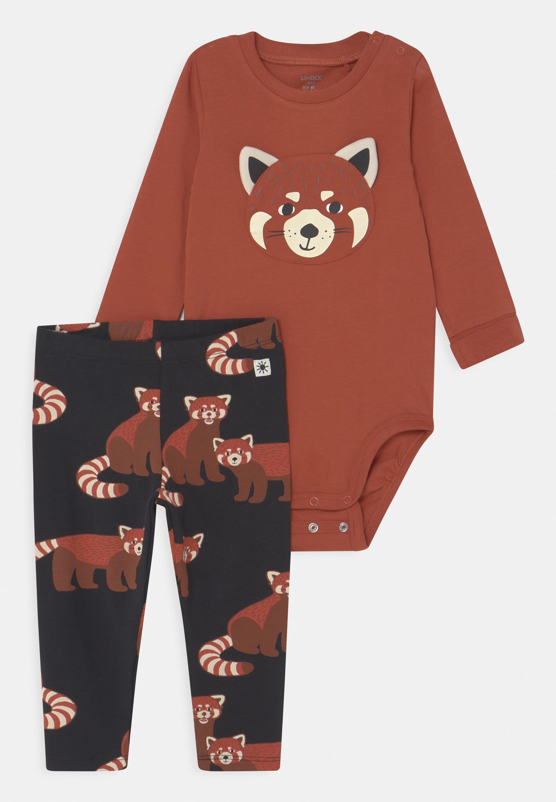 Kids RED PANDA SET UNISEX - Leggings - Trousers
