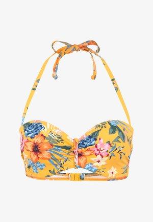 Bikini top - gelb-bedruckt