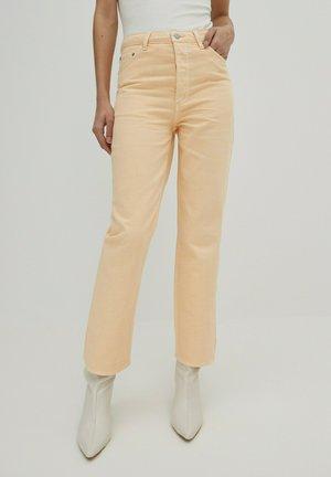 SIMEA - Straight leg jeans - apricot