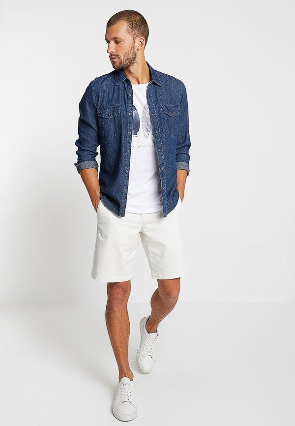 Esprit FEATHER - T-shirt z nadrukiem - white/biały Odzież Męska LKNU