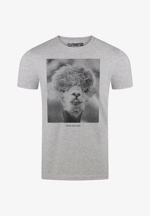 RIVLUKAS - Print T-shirt - hellgrau (ajd)