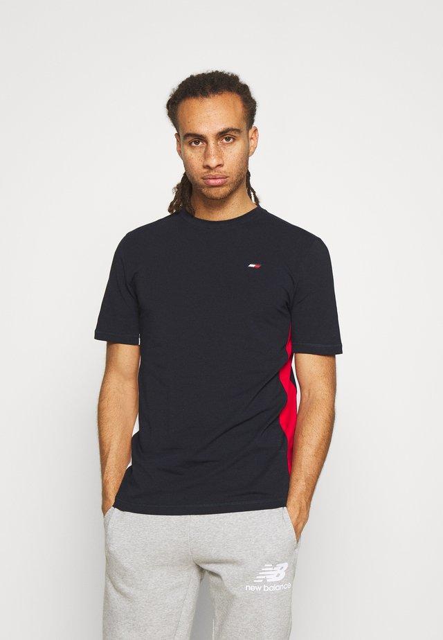 BLOCKED TEE - T-shirt print - blue