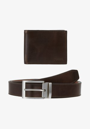 GIFT SET - Wallet - dark brown