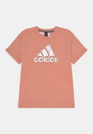 TEE - Print T-shirt - ambient blush melange/silver
