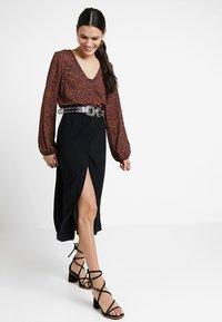 Vero Moda - VMGAEL CALF - A-line skirt - black - 1