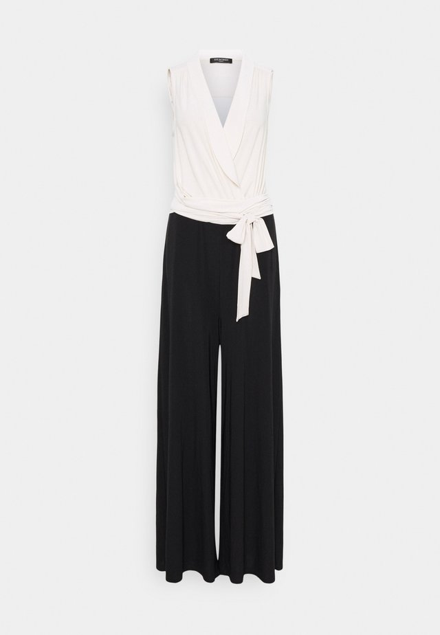 JUMPSUIT - Overal - white sugar/black