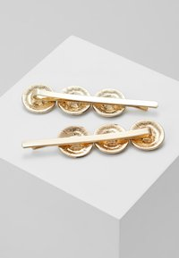 Topshop - COIN HAIR SLIDE 2 PACK - Hair Styling Accessory - gold-coloured - 2