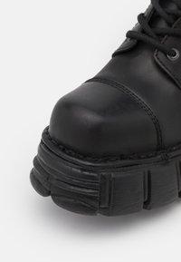New Rock - UNISEX - Platform ankle boots - black - 5