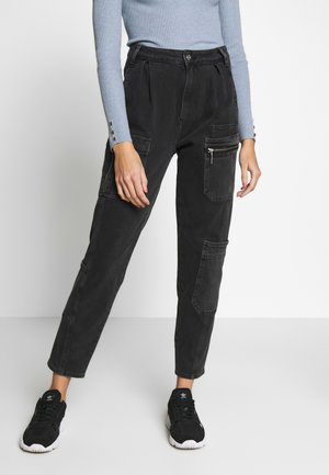 JOGGER SOLIDER - Jeans Relaxed Fit - washed black