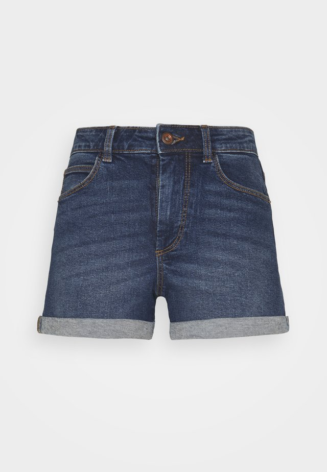PCPACY LOOSE SHORTS - Denim shorts - medium blue denim