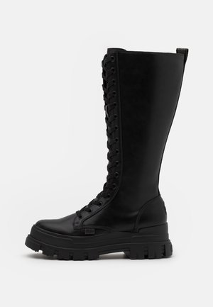 ASPHA ON - Botas con cordones - black